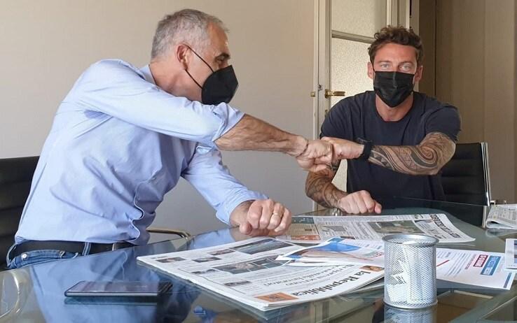 L'incontro tra Francesco Tresso e l'ex calciatore della Juventus, Claudio Marchisio