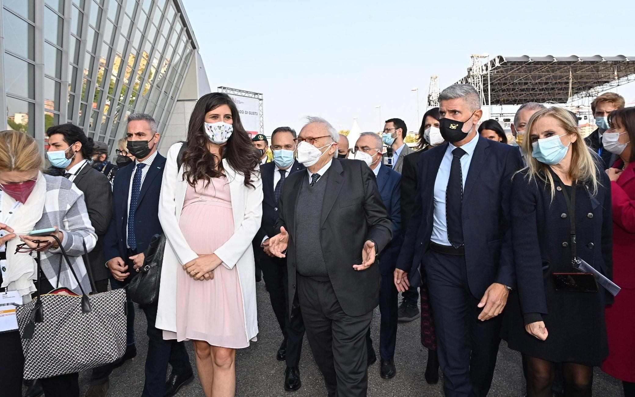 Inaugurazione del XXXIII Salone internazionale del libro di Torino presso il Lingotto, Torino, 14 ottobre 2021. ANSA/ALESSANDRO DI MARCO