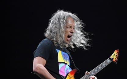 Metallica: a Milano suonano i Litfiba, Kirk Hammett a terra