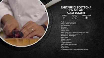 Kitchen Sound: carpaccio di lingua con gelato al vin cotto