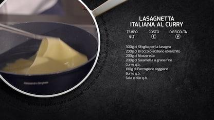 Kitchen Sound: la ricetta della lasagnetta italiana al curry