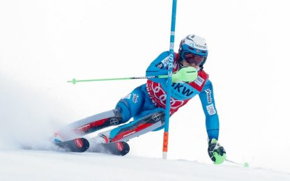 Slalom, vince Kristoffersen. Ottavo Moelgg