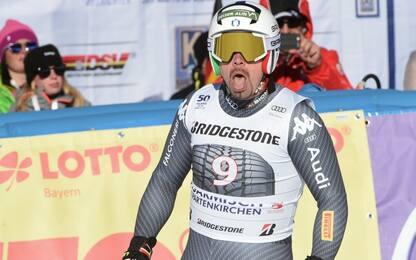 Discesa, Peter Fill terzo a Garmisch
