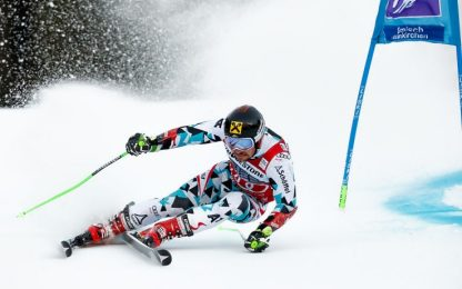 Gigante Garmisch, vince Hirscher. Eisath 9°