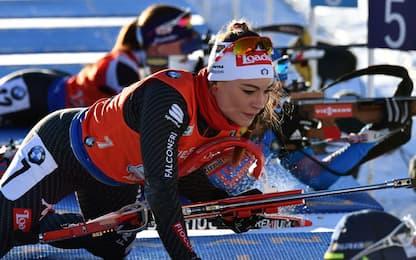 Mondiali biathlon, staffetta mista: l'Italia è 4^