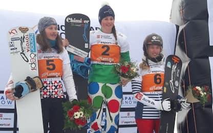 Snowboard, Moioli vince l'Sbx di La Molina