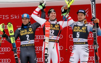 Slalom, Kranjska Gora: Gross 2°, si arrende a Matt
