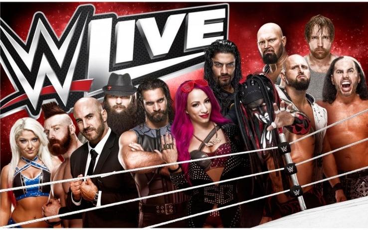 La locandina del tour europeo della WWE