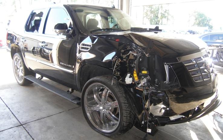 Il SUV schiantato nel 2009 (Getty)