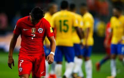 Cile ko 3-0 in Brasile, addio Mondiale