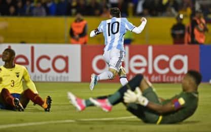 Argentina al Mondiale: guarda i 3 gol di Messi