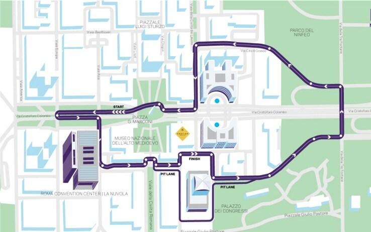 Il circuito a Roma di Formula E