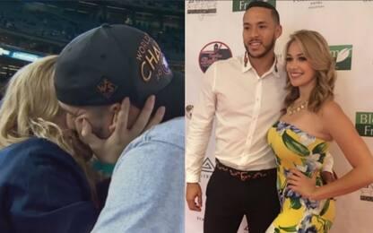La notte di Correa: proposta di nozze in campo