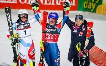 Slalom Zagabria: è dominio Shiffrin