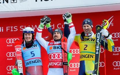 Sci, slalom maschile a Wengen: vince Hirscher
