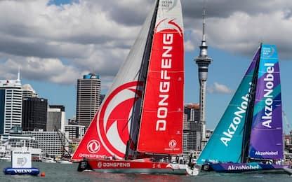 VOR, Dongfeng vince la regata costiera di Auckland