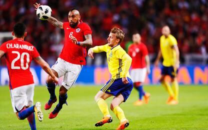 Svezia ko in amichevole: battuta 2-1 dal Cile