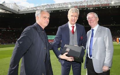 Merci Wenger, l'omaggio di Sir Alex a Old Trafford