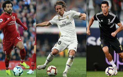 Come a Monaco: sfida Salah-Modric-CR7 per The Best