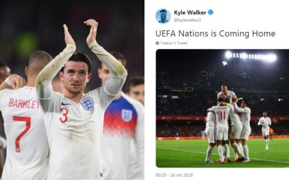 """Humor inglese: """"Uefa Nations is coming home"""""""