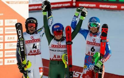 Slalom, oro Shiffrin su Larsson. Male le azzurre