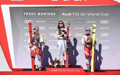 Caos crono: cambia il podio a Crans Montana