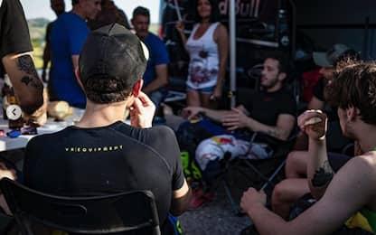 Rossi, passione motocross: a Cavallara con Dovi