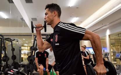 Juve, muscoli in palestra aspettando l'Inter. FOTO