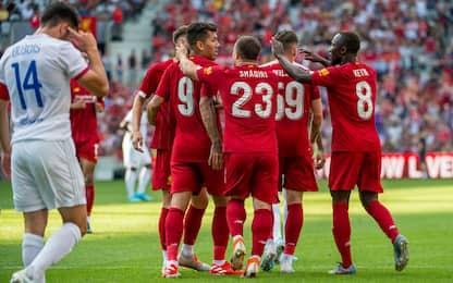 Liverpool, riecco Salah e Firmino: 3-1 al Lione