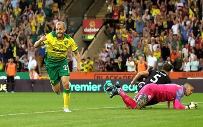 Il City frana: ko 3-2 contro il Norwich di Pukki