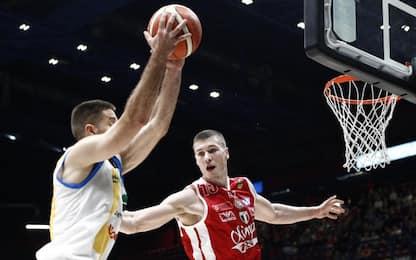 Basket, quarti scudetto: Milano cade in casa