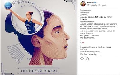 """Zandalasini in WNBA: """"Il sogno è realtà"""""""