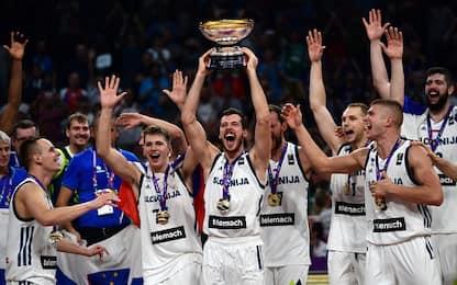 Slovenia campione d'Europa: 93-85 alla Serbia