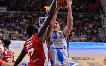 Serie A basket, Sassari batte Reggio Emilia 77-67