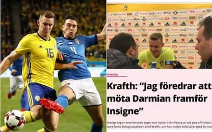"""Krafth: """"Temevo Insigne, ho preferito Darmian"""""""