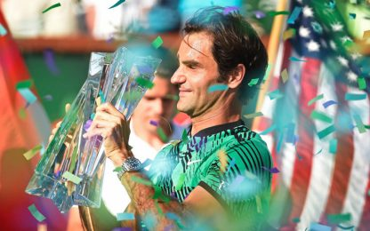 Indian Wells: Federer, l'uomo dei record