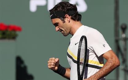 Indian Wells: Federer ai quarti, Chardy ko