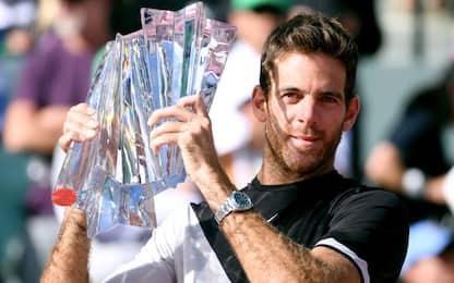 Indian Wells: trionfa Del Potro, Federer ko