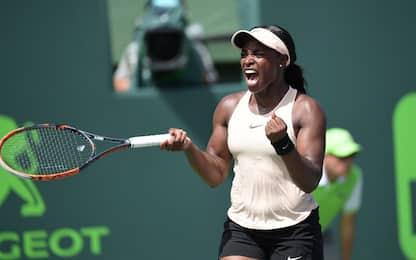 WTA Miami, trionfa Stephens: Ostapenko ko