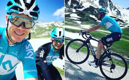 Froome, testa al Tour: ricognizione a La Rosiere