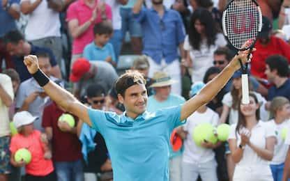 Federer fa 98: titolo a Stoccarda, Raonic ko
