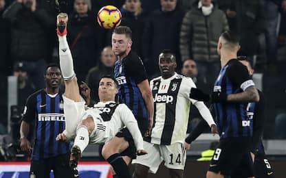 Juve-Inter conferma: CR7 vuole gol in rovesciata