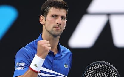 Aus Open, Djokovic facile al 2° turno