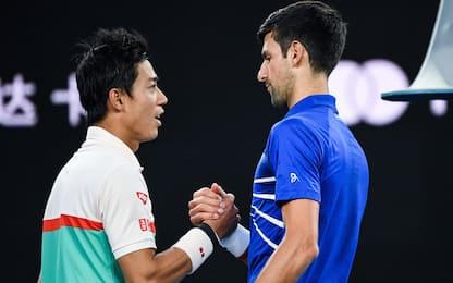 Aus Open: Nishikori si ritira, Nole in semifinale