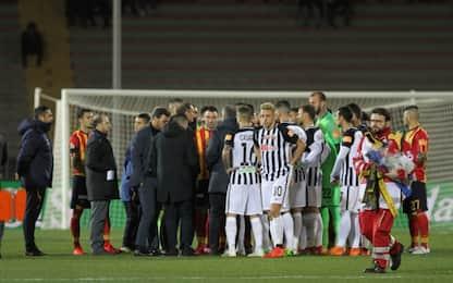 Lecce-Ascoli verrà proseguita il 23 marzo