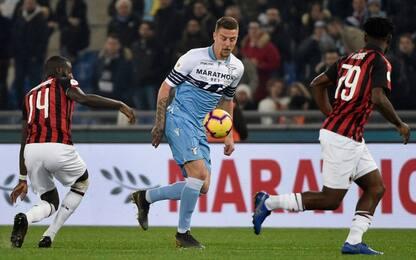 Lazio-Milan 0-0, verdetto rimandato al ritorno