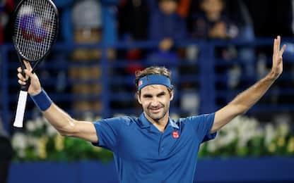 Federer vede i 100 trionfi: è in finale a Dubai