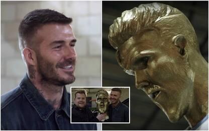 """Beckham e la statua """"fake"""", la reazione è comica"""