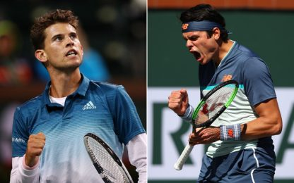 Indian Wells, Thiem-Raonic la prima semifinale