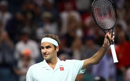 Miami: Federer agli ottavi, out Cecchinato